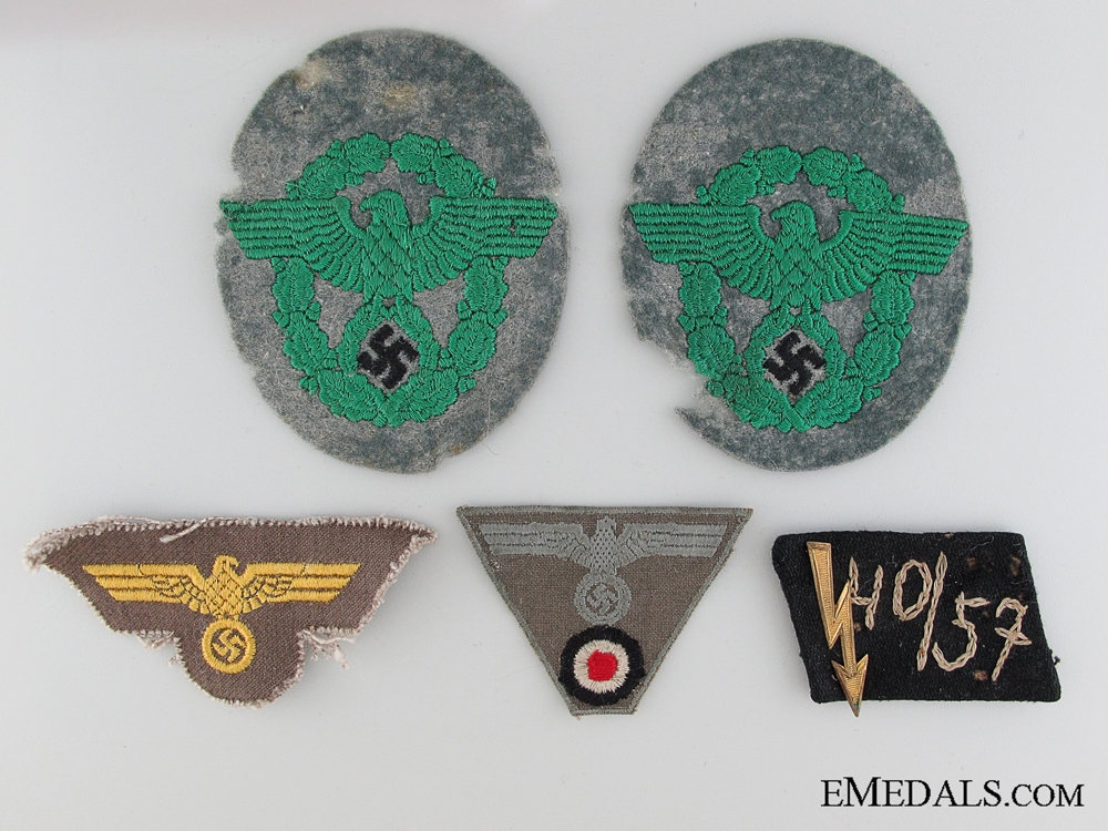 eMedals-Five Pieces of WWII German Insignia