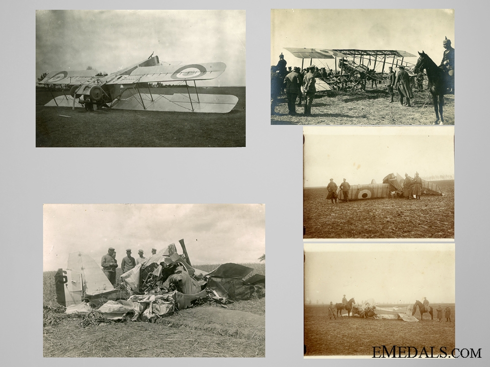 eMedals-Five Private Photos of Downed Allied Planes