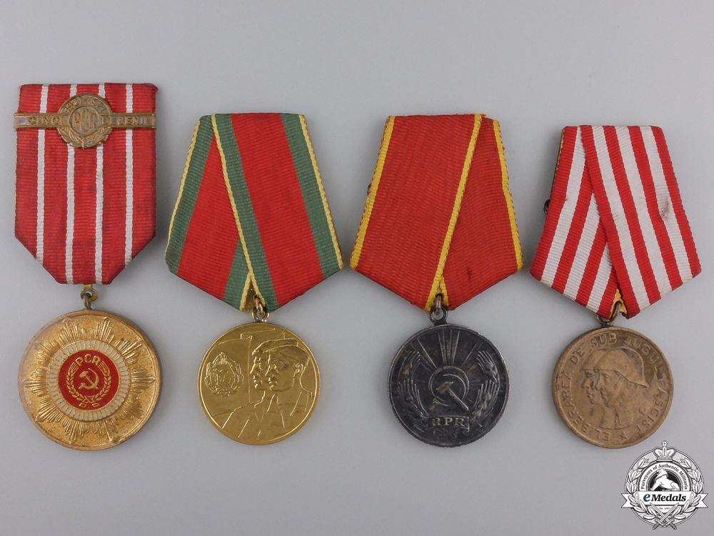 eMedals-Four Romanian Socialist Medals and Awards