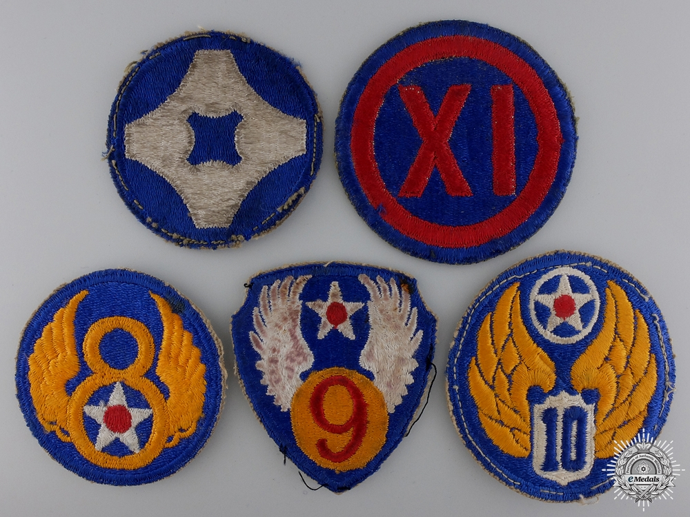 eMedals-Five Second War American Division Patches