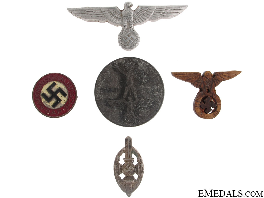 eMedals-Five Third Reich Items