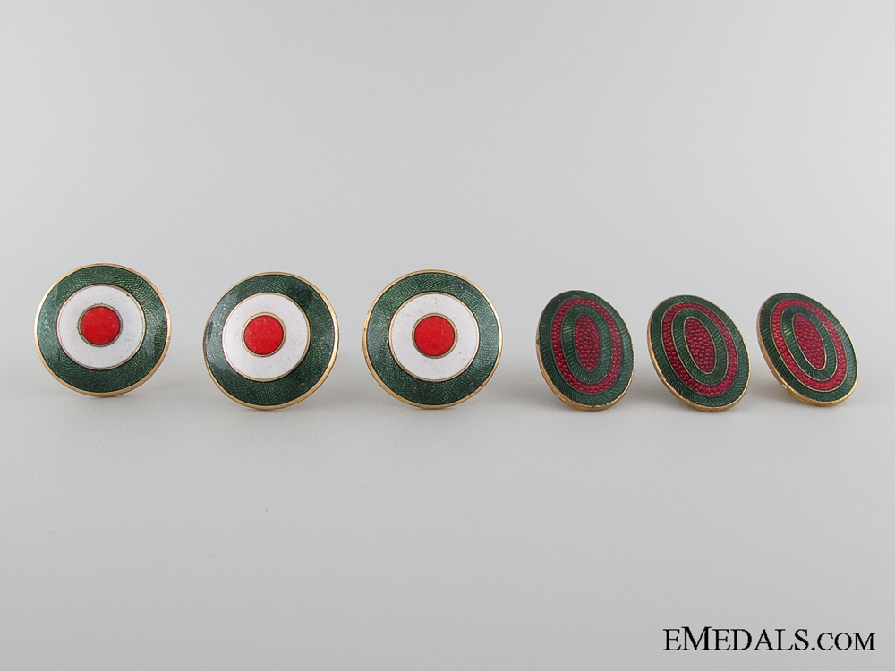 eMedals-Five WWII Bulgarian Cap Badges
