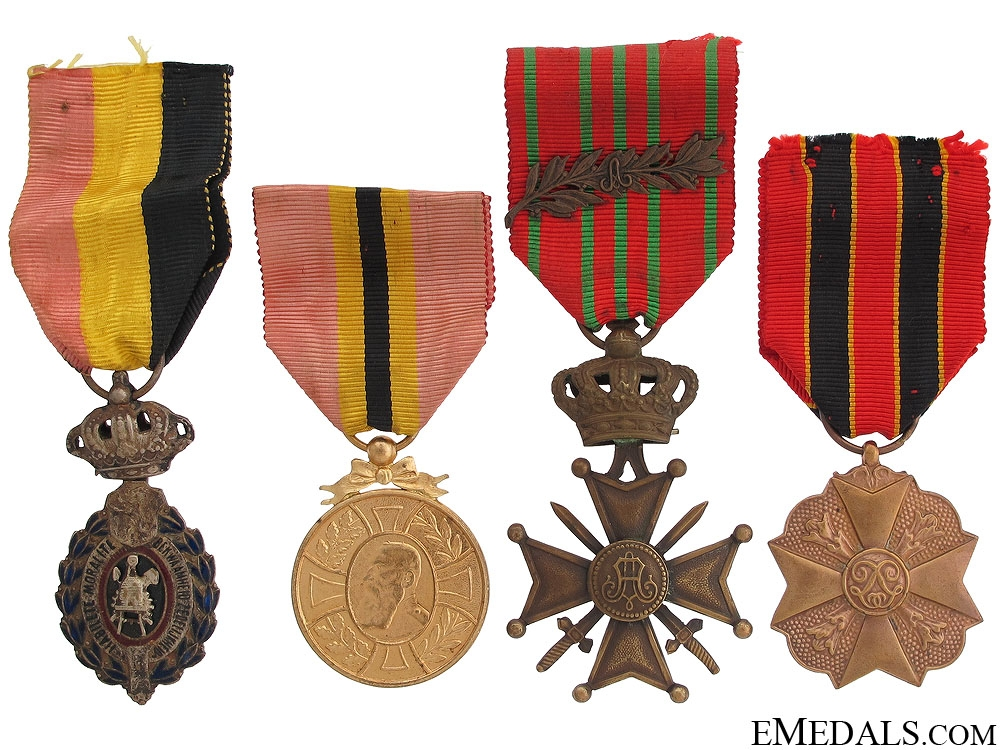 eMedals-Four Belgian Awards and Decorations