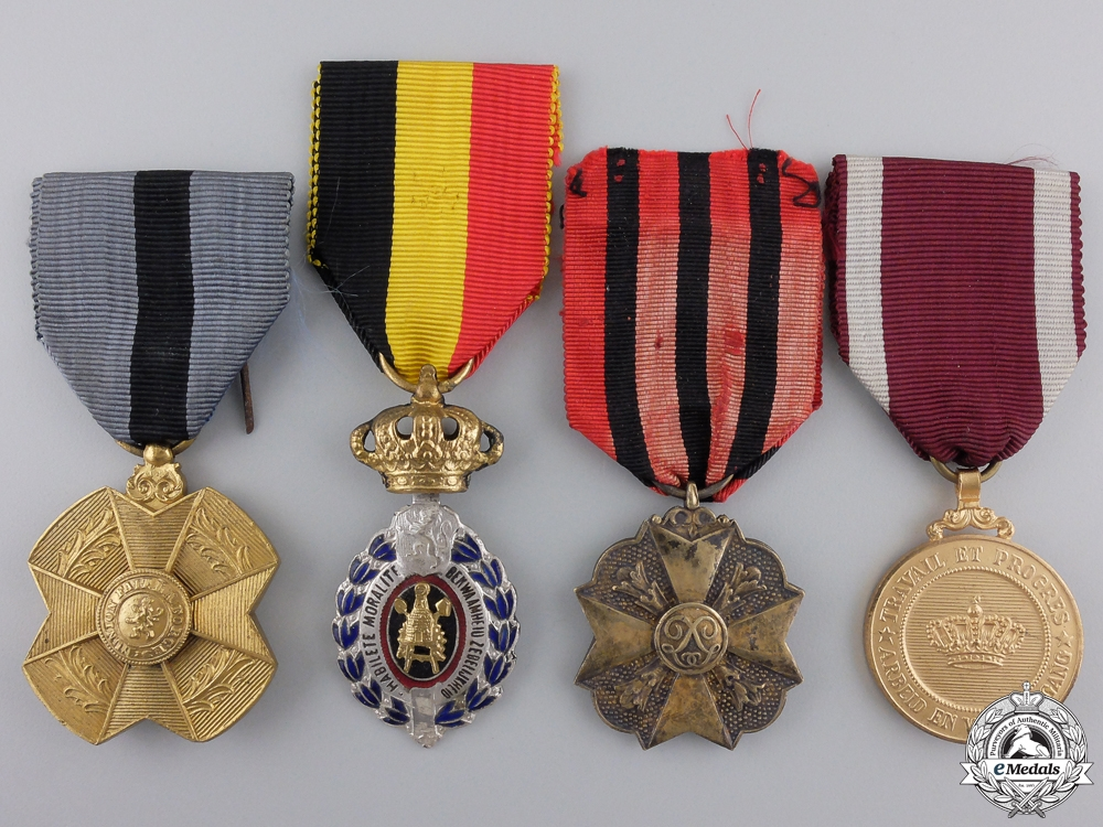 eMedals-Four Belgian Medals, Orders, and Awards