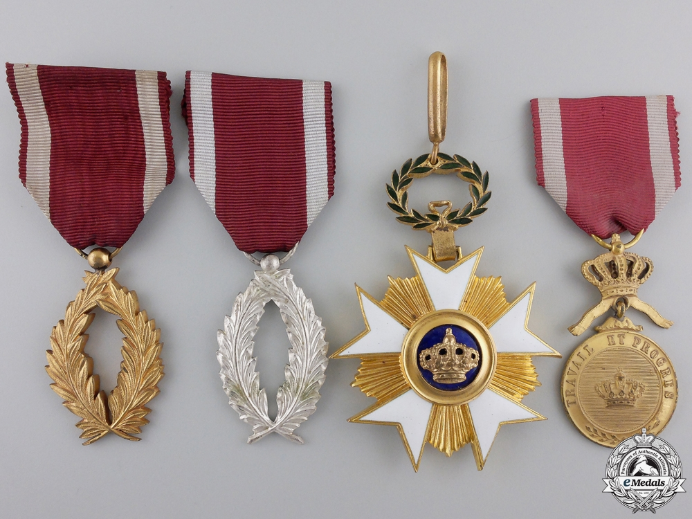 eMedals-Four Belgian Order of the Crown Awards