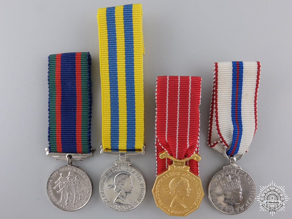 eMedals-Four Canadian Miniature Medals and Awards