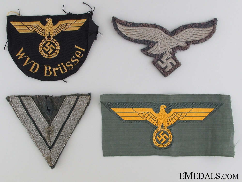 eMedals-Four German Cloth Items