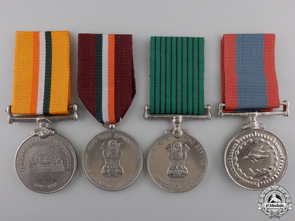 eMedals-Four Indian Service Medals and Awards