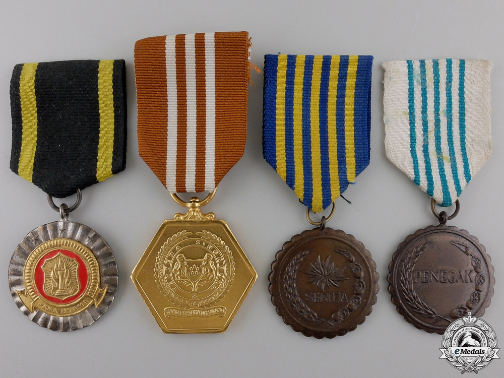 eMedals-Four Medals from Indonesia & Singapore