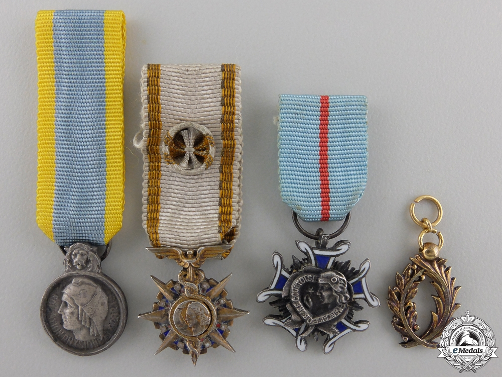 eMedals-Four Miniature French Orders and Medals