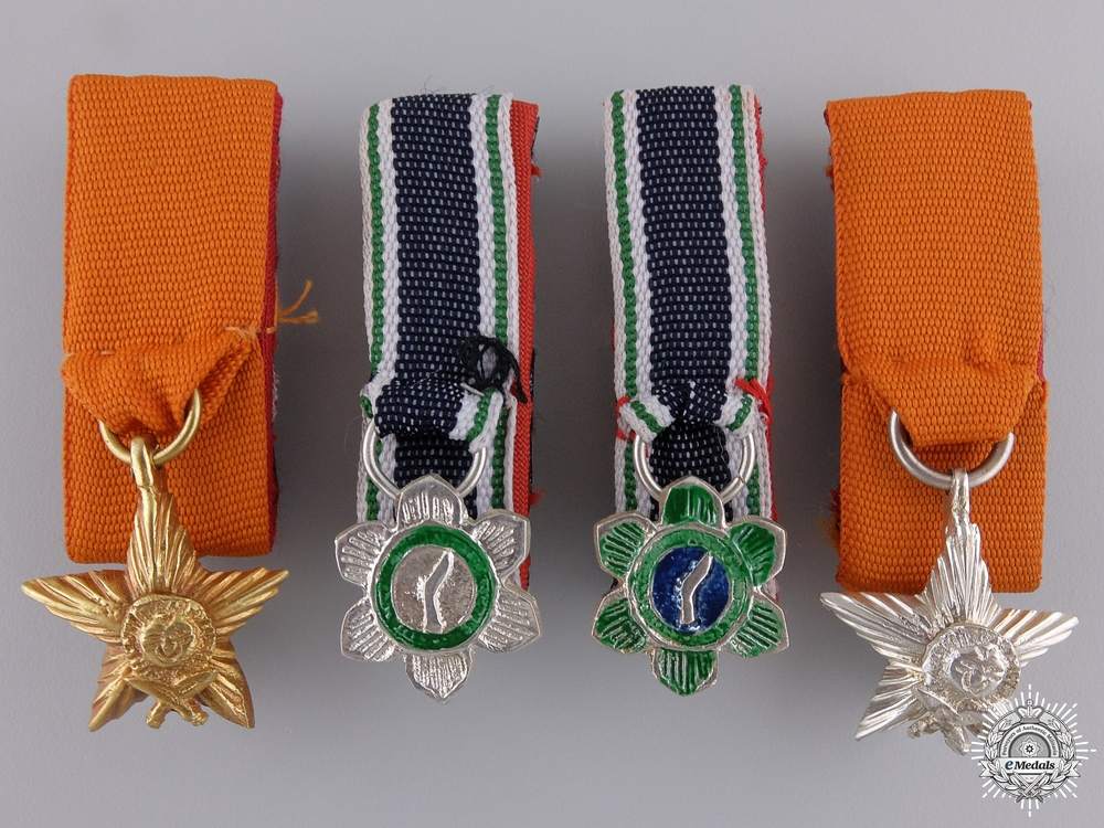 eMedals-Four Miniature Nepalese Orders