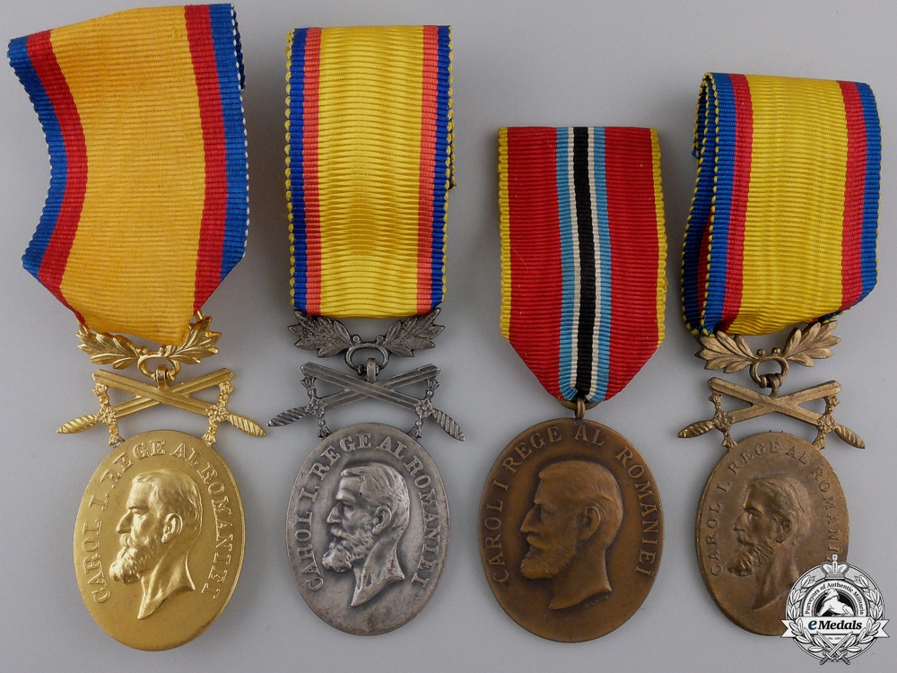 eMedals-Four Romanian Loyalty & Jubilee Medals