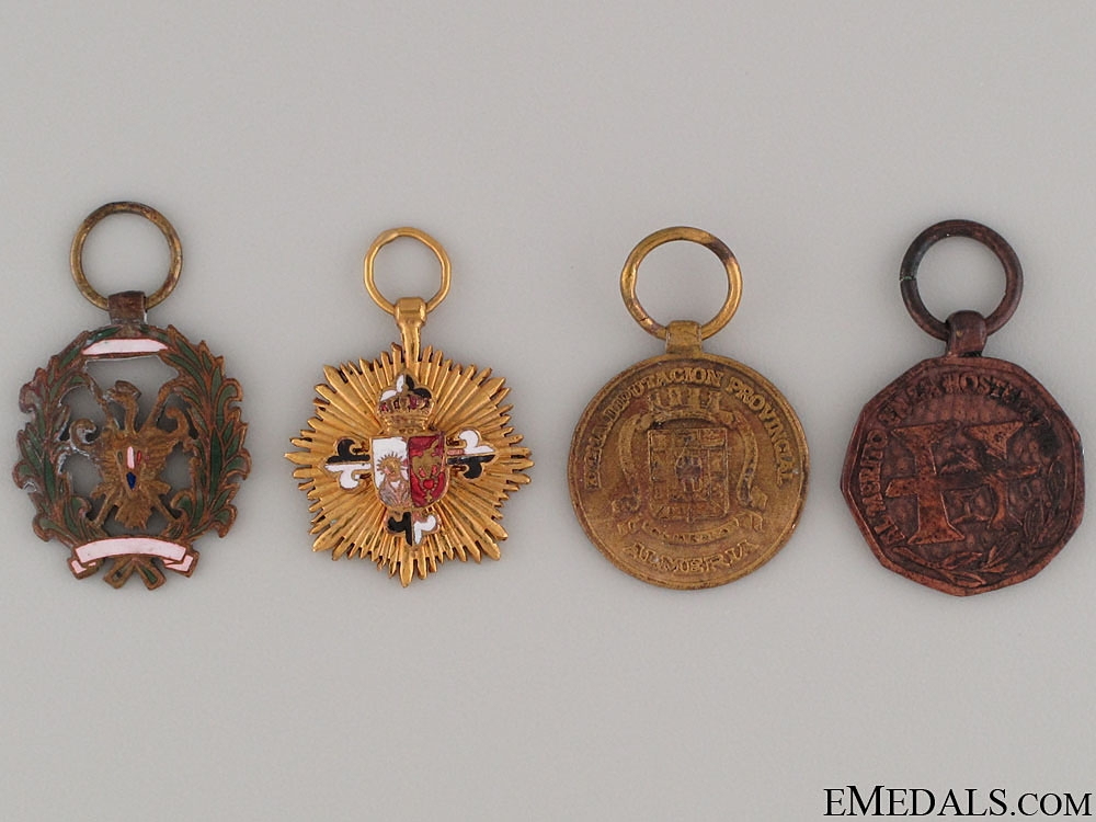 eMedals-Four Spanish Miniature Medals