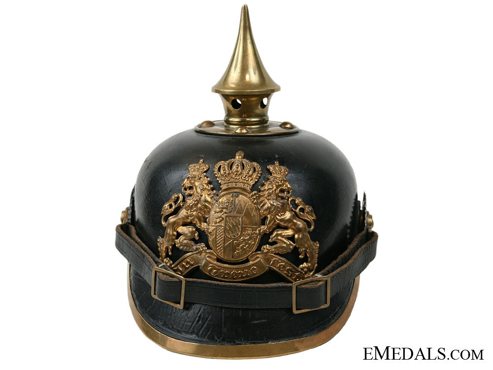 eMedals-A 1915 Bavarian Pickelhaube to the 19th J.R.