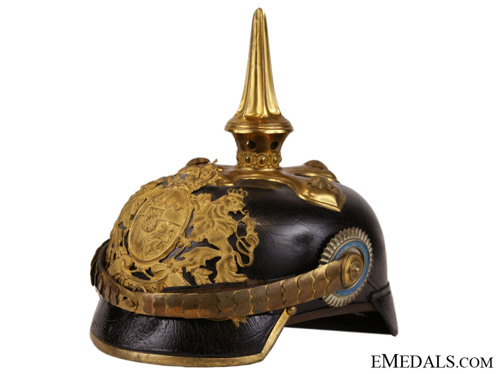 eMedals-Bavarian Infantry Officers Pickelhaube