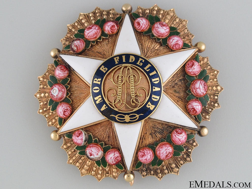 eMedals-A Brazilian Order of the Rose in Gold; Dignitary Star