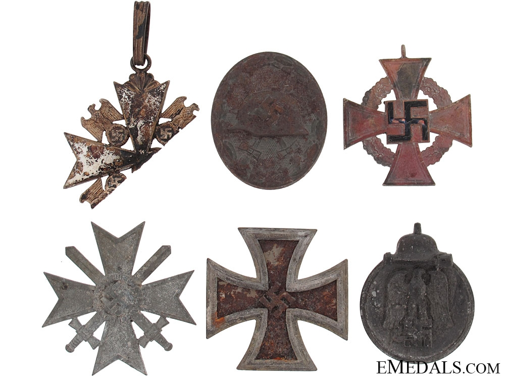 eMedals-Orders & Medals Recovered From the Bombed Zimmerman Factory