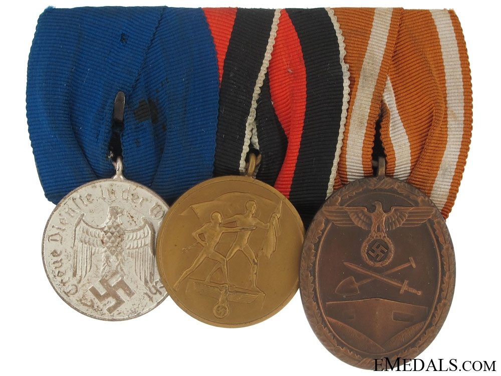 eMedals-Mounted Group of Three Awards