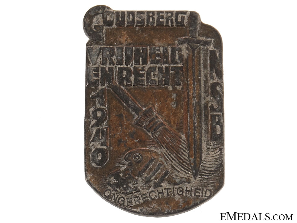 eMedals-Dutch NSB 1940 Badge/Tinnie