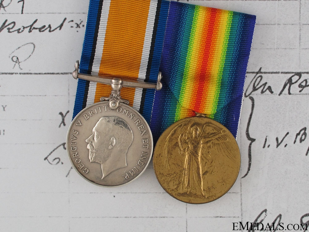 eMedals-Great Pair Pair to 2nd Lieutenant Hart RFA
