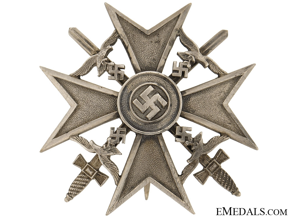 eMedals-Spanish Cross in Silver with Swords