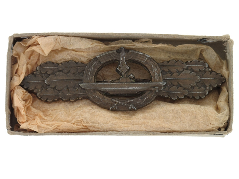 eMedals-Boxed Submarine Clasp - Bronze