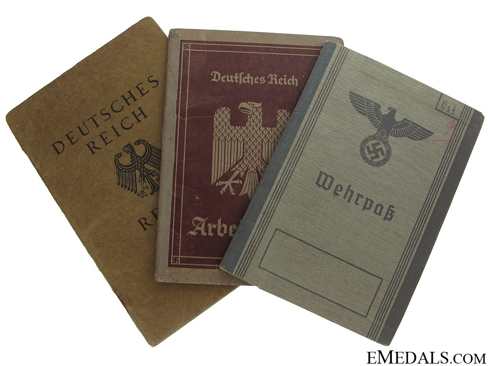 eMedals-Group of Three German ID & Booklets
