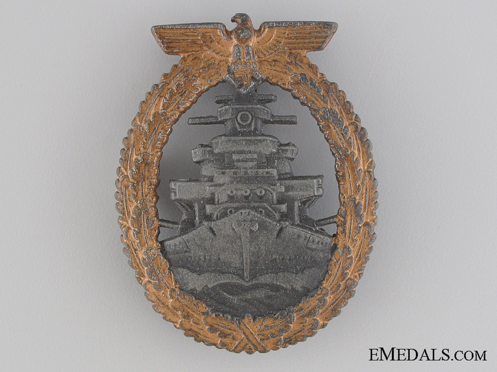 eMedals-A Kriegsmarine High Seas Fleet Badge by Steinhauer und Lück