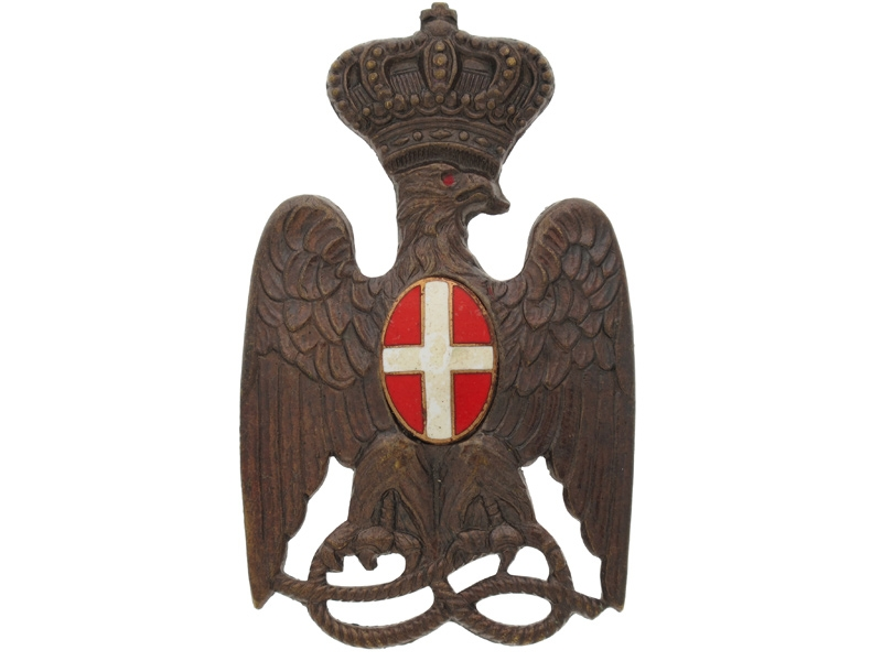 eMedals-WWII Colonial Africa Police Pith Helmet Badge