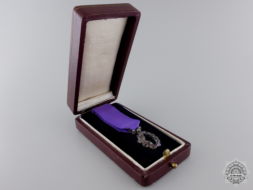 eMedals-A Miniature French Officer of Academic Palms with Diamonds