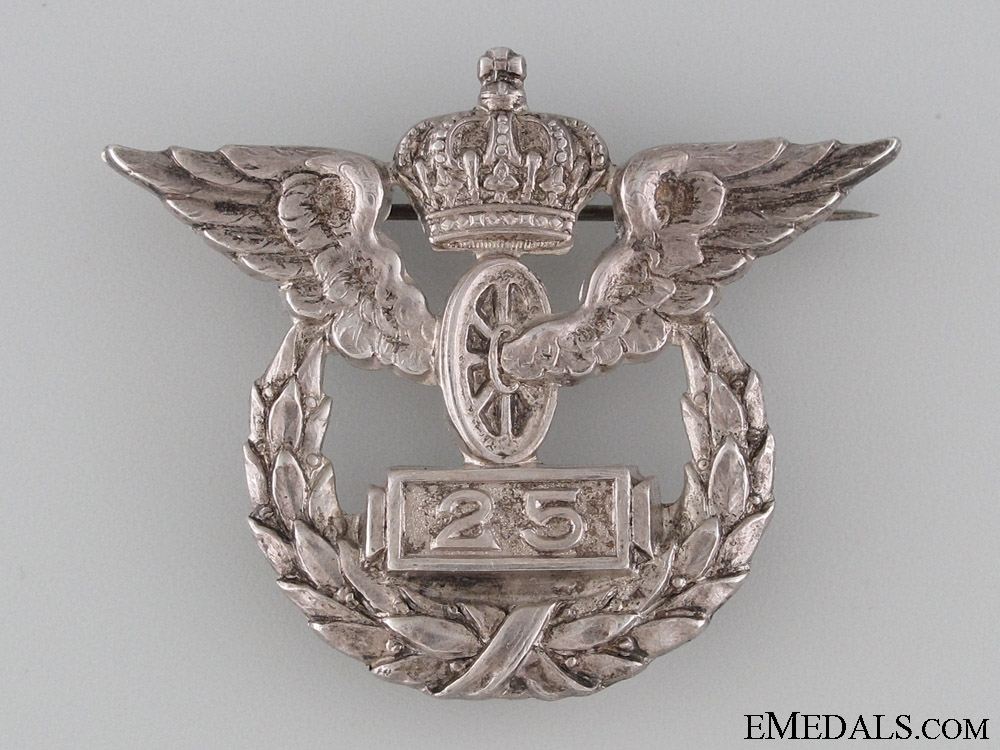 eMedals-Imperial Railway 25 Year Service Badge