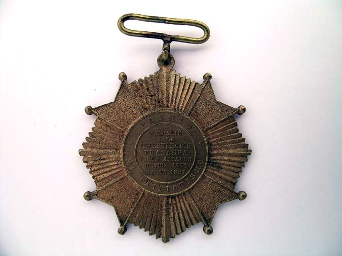 eMedals-MEXICO, CROSS FOR FRENCH INTERVENTION