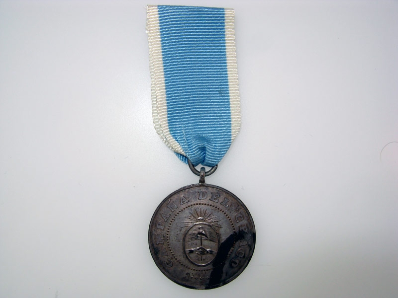 """eMedals-Argentina, """"Chaco"""" Campaign Medal 1870-85,"""