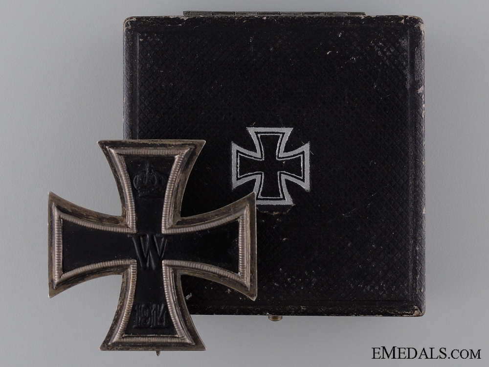 eMedals-Iron Cross First Class 1914 by K.O. with Case