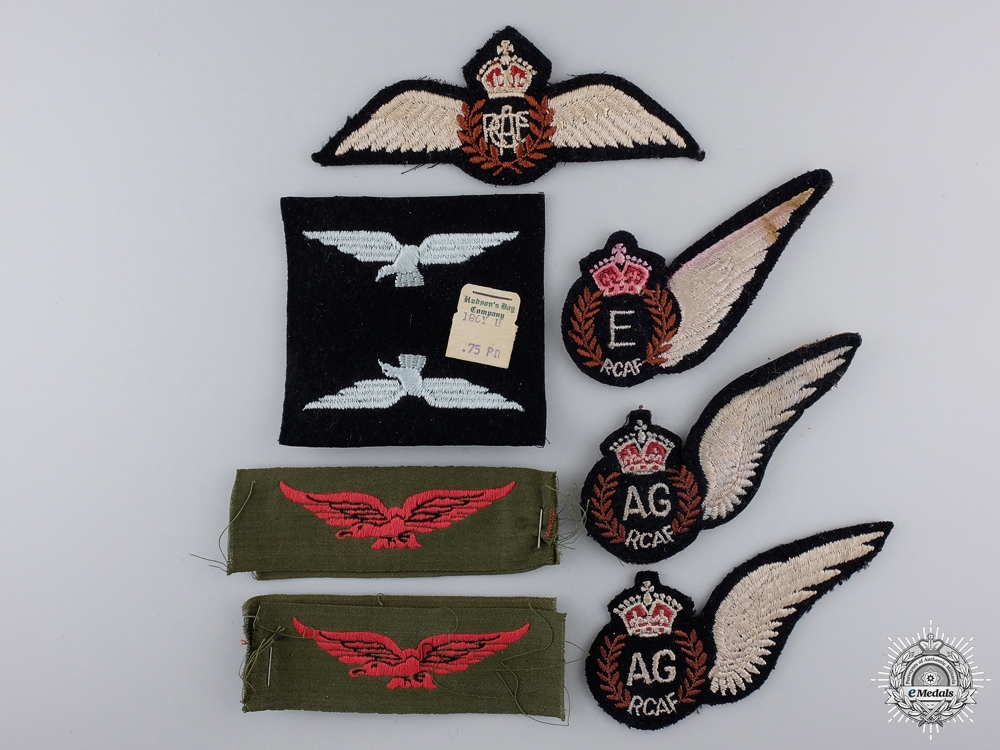 eMedals-Lot of Nine WWII Royal Canadian Air Force (RCAF) Badges
