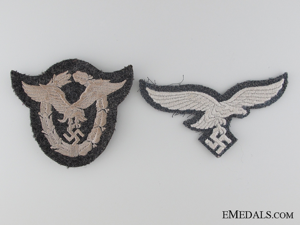 eMedals-Luftwaffe Cloth Pilot's Badge and Breast Eagle