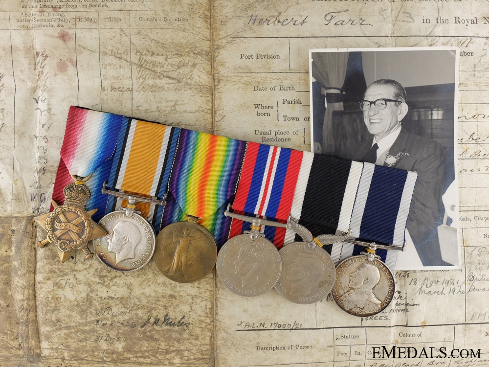 eMedals-The Medals of Chief Petty Officer Herbert Tarr who Refused DSM