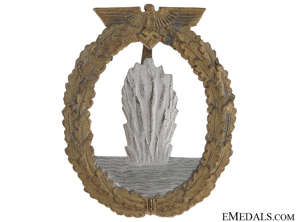 eMedals-Minesweeper War Badge - Zinc marked R.K.