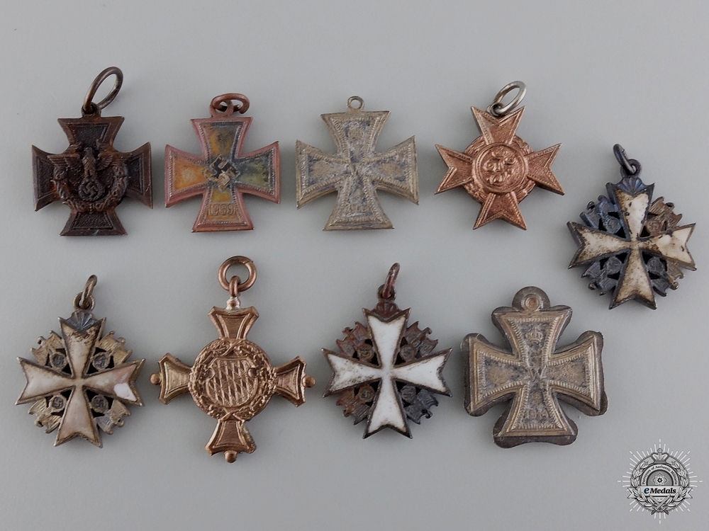eMedals-Miniatures Recovered from the Bombed Zimmermann Factory