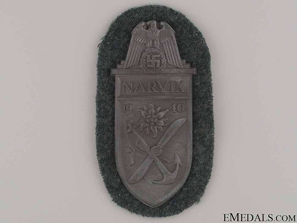 eMedals-Narvik Campaign Shield - Army Issue
