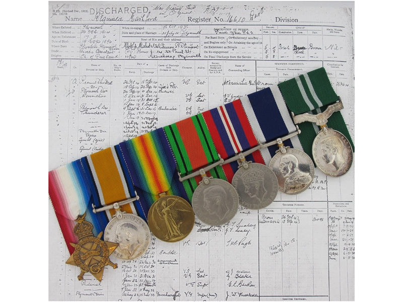 eMedals-Navy to Air Force Group to Pte Reginald Mashford