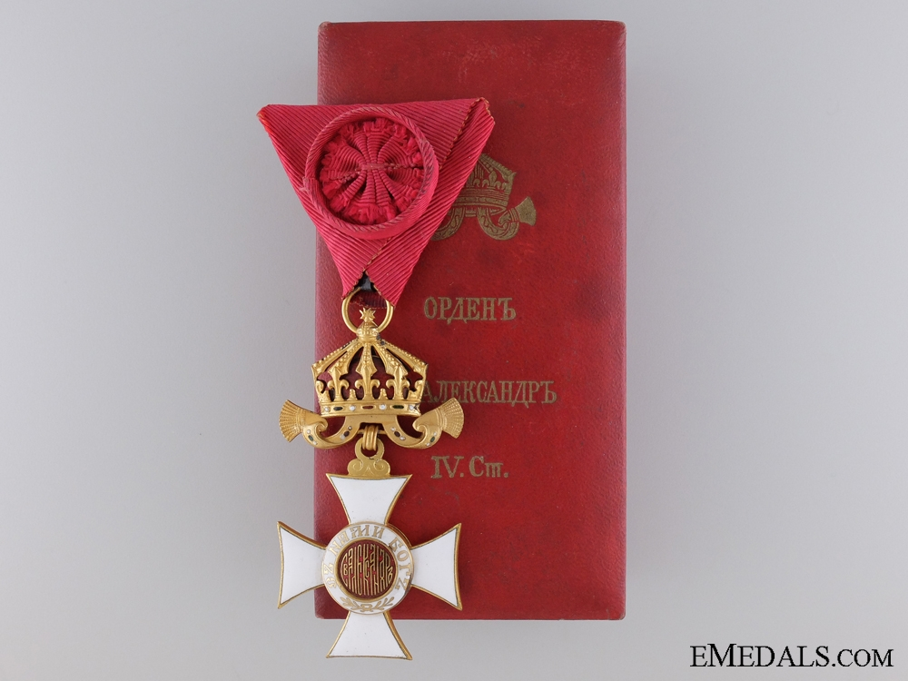 eMedals-Order of St. Alexander; Fourth Class Cross; Cased