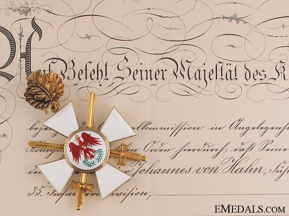 eMedals-Order of the Red Eagle to Johannes von Hahn