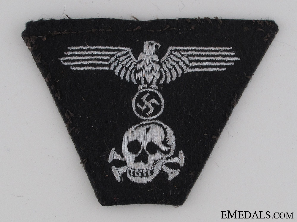 eMedals-Panzer EM/NCO's M43 Trapezoid Style Cap Insignia