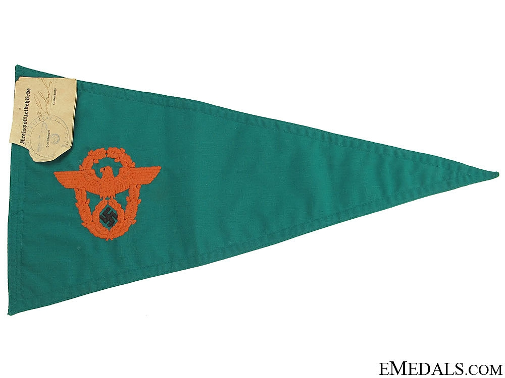 eMedals-Police Car Pennant for Gendarmerie Officers