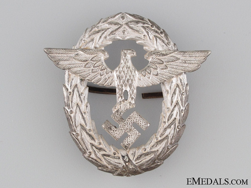 eMedals-Police Officer's Visor Cap Insignia - 1st Pattern