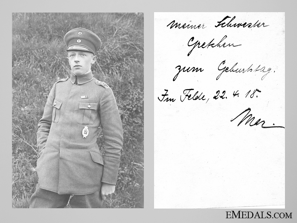 eMedals-Private Photo of a Bavarian Observer with Dedication