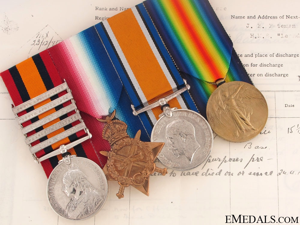 eMedals-Queen's South Africa & CEF Group to Lt. Bateman