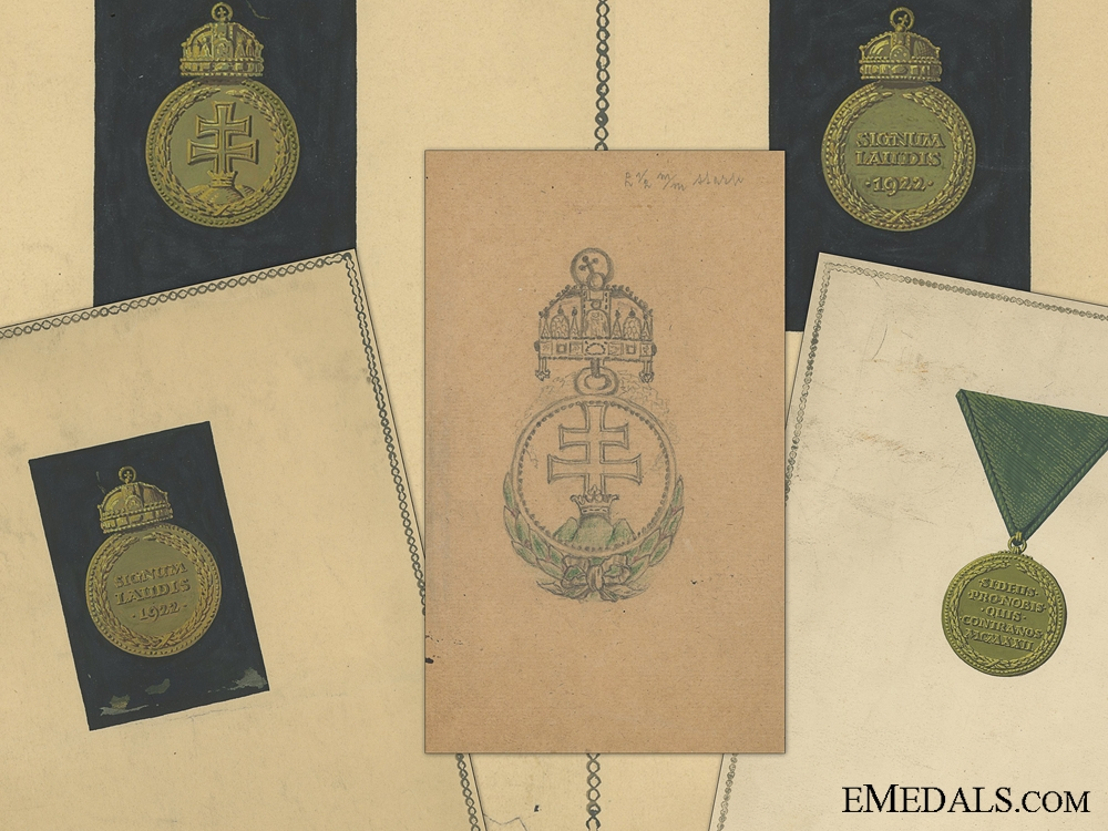 eMedals-The Rare Artist's Proposal for Signum Laudis Medal by Meder-Meyer Antal