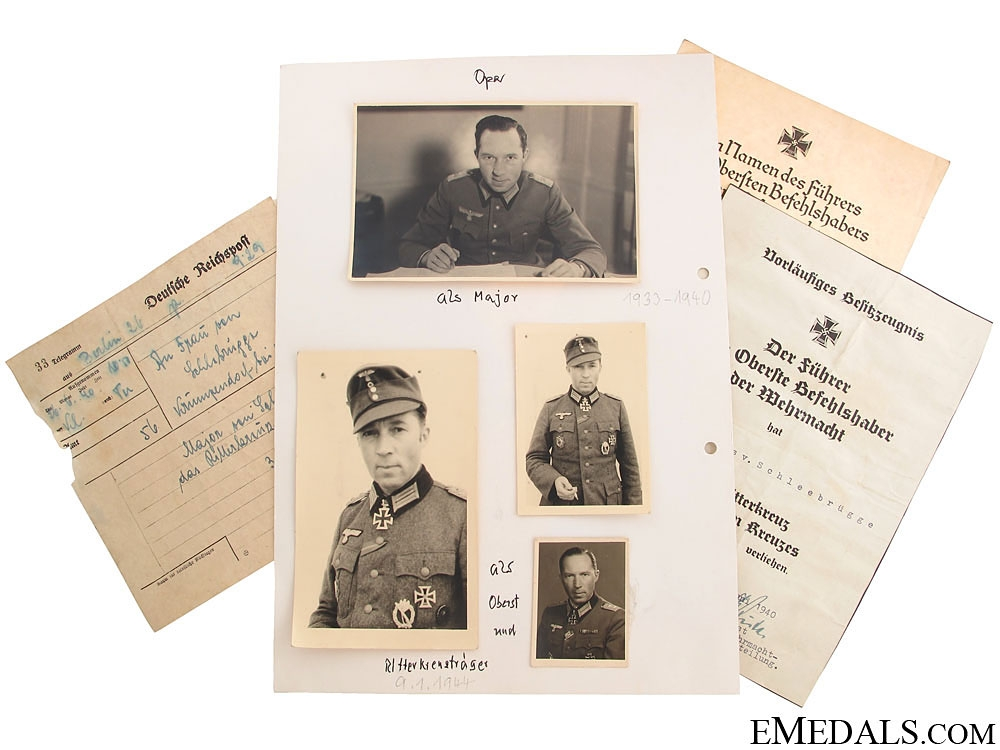 eMedals-Rare Documents for KC Winner at Narvik